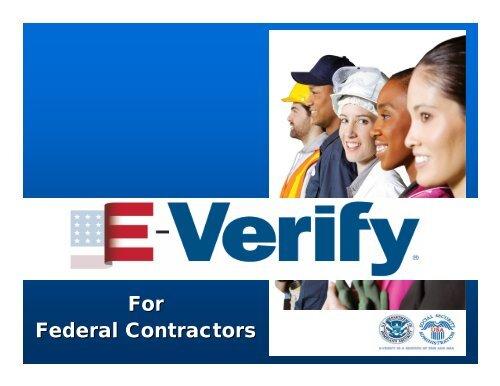 E-Verify for Federal Contractors
