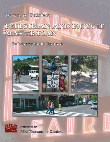 PEDESTRIAN AND BICYCLE MASTER PLAN - Town of Fairfax