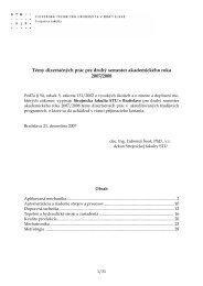 Témy dizertačných prác pre druhý semester ... - Strojnícka fakulta