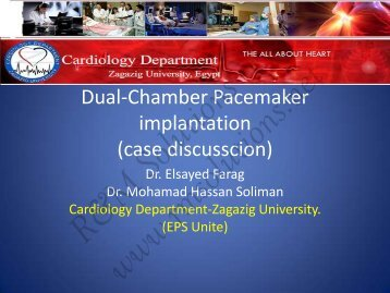 Dual-Chamber Pacemaker implantation (case ... - cardioegypt2011