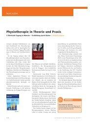 Physiotherapie in Theorie und Praxis