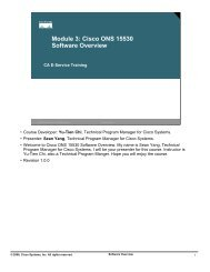 Module 3: Cisco ONS 15530 Software Overview