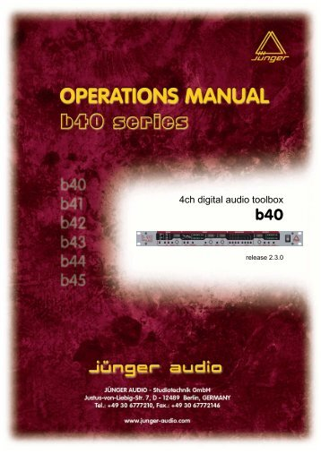 B40 manual EN 080104 03.pdf - Jünger Audio