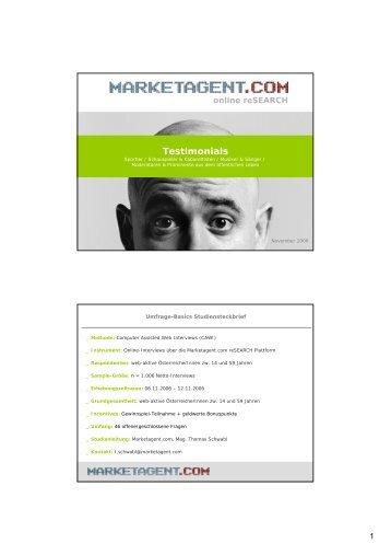 Testimonials - Marketagent.com