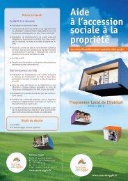 Aide à l'accession sociale à la propriété - Vannes Agglo