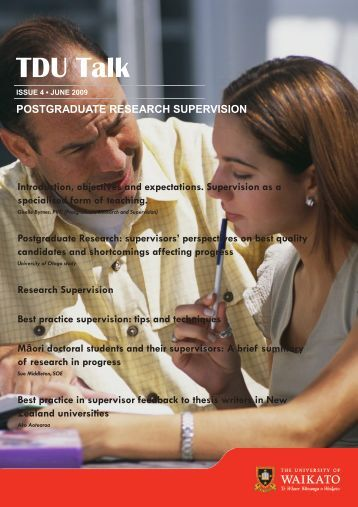 Postgraduate Research Supervision - The University of Waikato