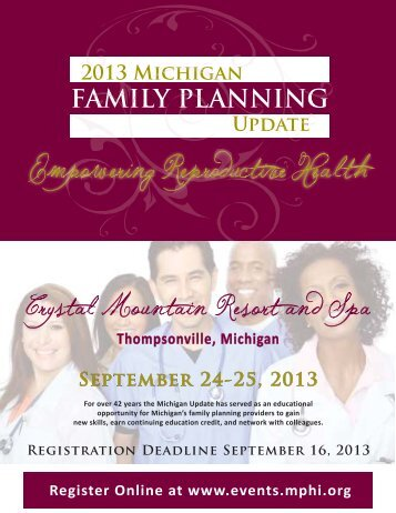 2013 Family Planning Update - Ungerboeck Software