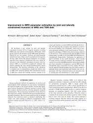 Improvement in MRS parameter estimation by joint and laterally ...