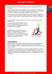 Informationsblatt Verleih E-Fahrrad klein - Kinder tun was!