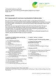Resultate Teil III - Arbeitsstelle Frühförderung Bayern
