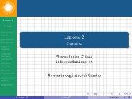 Lezione 2 - Statistica - Docente.unicas.it