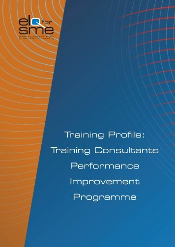 Training Consultants Performance Improvement Programme - Cecoa