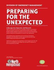Preparing for the Unexpected - Town of North Hempstead