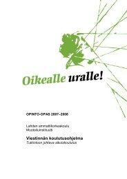 Opinto-opas 2007-2008, Muotoilu - Lahden ammattikorkeakoulu