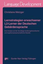 Lernstrategien erwachsener L2-Lerner der ... - narr-shop.de
