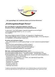 """""""Erziehungsbeauftragte Person"""" - Jugendserver Niedersachsen"""