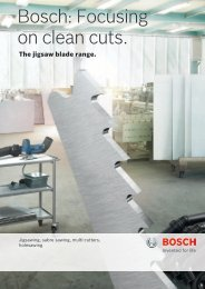 Bosch: Focusing on clean cuts.