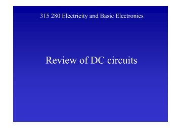 315 280 Electricity and Basic Electronics