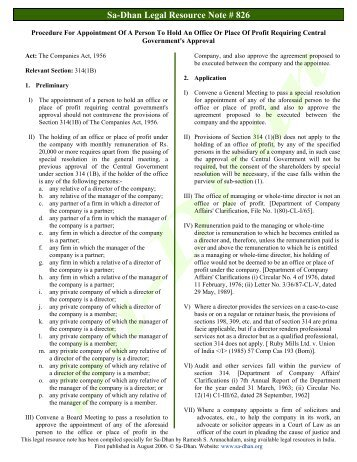 Procedure For Appointment Of A Person To Hold An ... - Sa-Dhan