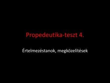 Propedeutika-teszt 4. - ELTE Művészettörténeti Intézet