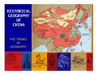 historical geography of china - National Committee on United States ...