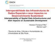 Interoperabilidade das Infraestruturas de Dados Espaciais e seus ...
