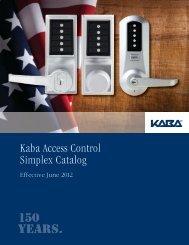 Kaba Access Control Simplex Catalog - Top Notch Distributors, Inc.