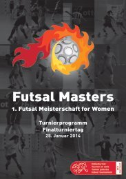 Programmheft 13/14 (PDF) - Futsal Masters