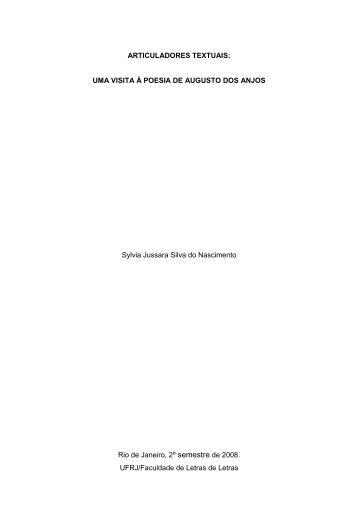 Articuladores textuais: uma visita à poesia de Augusto do Anjos