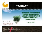ARRA Economic Development – Solar Energy - Quarles & Brady LLP