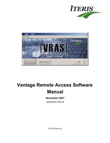 Vantage Remote Access Software - Interprovincial Traffic Services