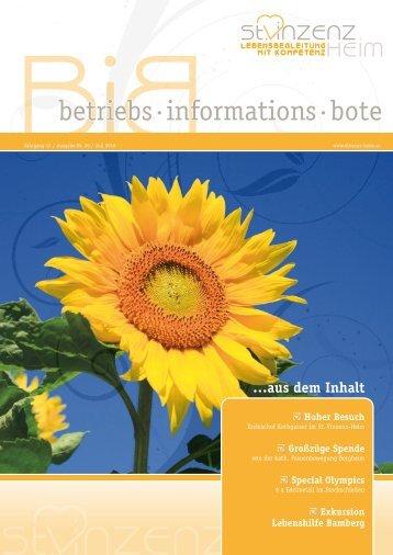 betriebs·informations·bote - St. Vinzenz Heim