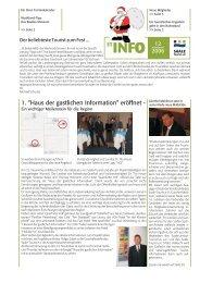 """1. """"Haus der gastlichen Information"""" eröffnet - - Förderverein Region ..."""