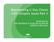 Representing U Visa Clients with Complex Issues Part II - asista