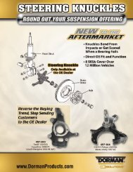 2800043 Steering Knuckles Sell Sheet_2.qxd - Dorman Products