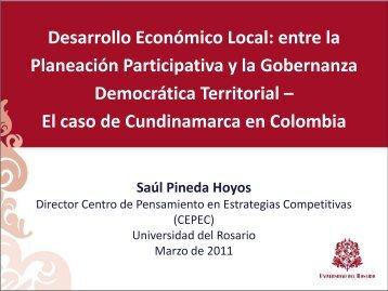 Desarrollo Económico Local - Universidad del Rosario