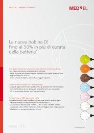 La nuova bobina D! Fino al 50% in più di  durata della batteria - Med-El