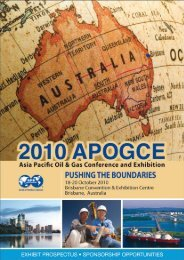 2010 Asia Pacific Oil & Gas Conference and Exhibition - SPE WA