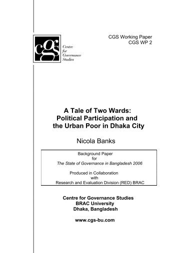 A Tale of Two Wards: Political Participation and the Urban Poor in ...