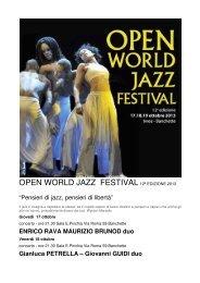 OPEN WORLD JAZZ FESTIVAL 12ª EDIZIONE 2013