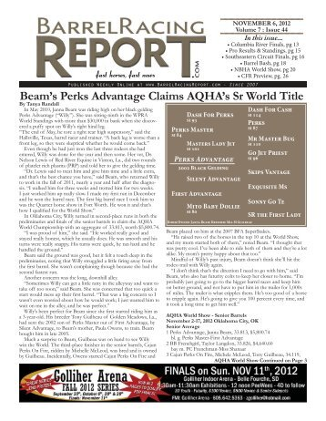 Beam's Perks Advantage Claims AQHA's Sr World Title