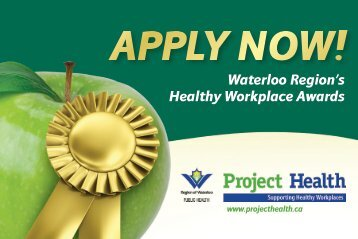 Waterloo Region's Healthy Workplace Awards - Project Health