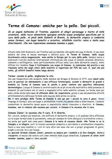Terme per bambini in Trentino - Terme di Comano