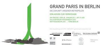 Grand Paris in Berlin - Alfred Herrhausen Gesellschaft