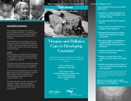 Hospice and Palliative Care in Developing Countries - UCSF Fresno ...