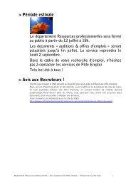 download the latest job offers (pdf file) - Artishoc