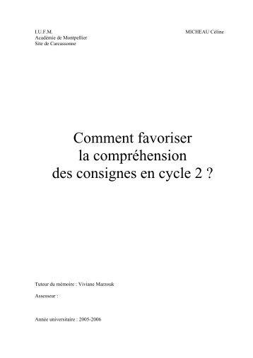 Comment favoriser la compréhension des ... - Sylvie Castaing