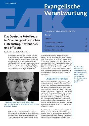 download PDF, 2218 Kb - Evangelischer Arbeitskreis der CDU/CSU