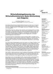 Wirtschaftsdelegationsreise nach Bulgarien - wengert-gruppe.de