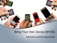 Bring Your Own Device (BYOD) - Cobb County School District